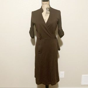 BCBGMaxazria Brown Wrap Dress.  Size Medium.